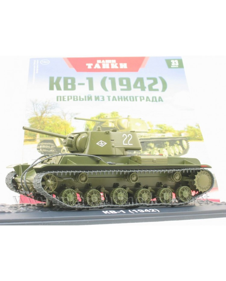 1:43 KV 1 (1942) heavy tank with magazine #33