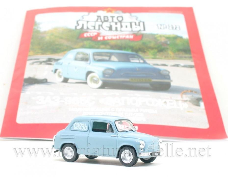 1:43 ZAZ 965 S Zaporozhets right-hand drive with magazine #272,  De Agostini by www.miniaturmodelle.net