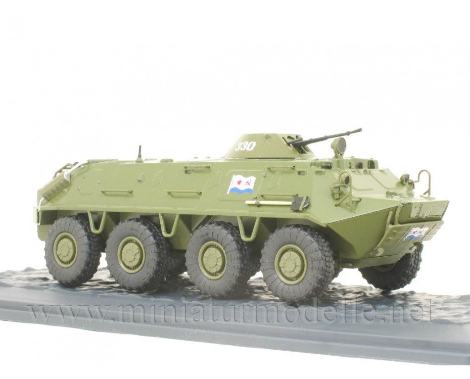 1:43 BTR 60 PB Soviet armored personnel carrier with magazine #34,  Modimio Collections by www.miniaturmodelle.net
