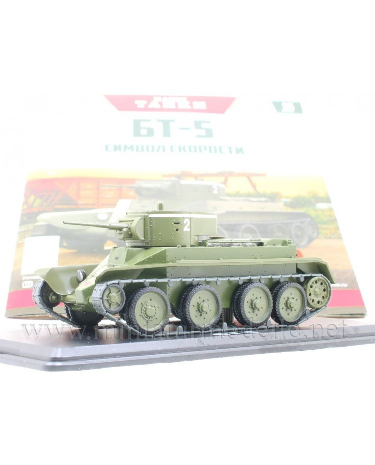 1:43 BT 5 Soviet light tank with magazine #35