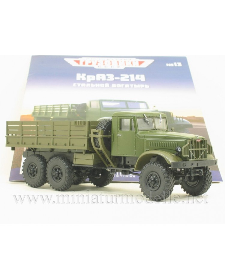1:43 KRAZ 214 load platform military with magazine#13