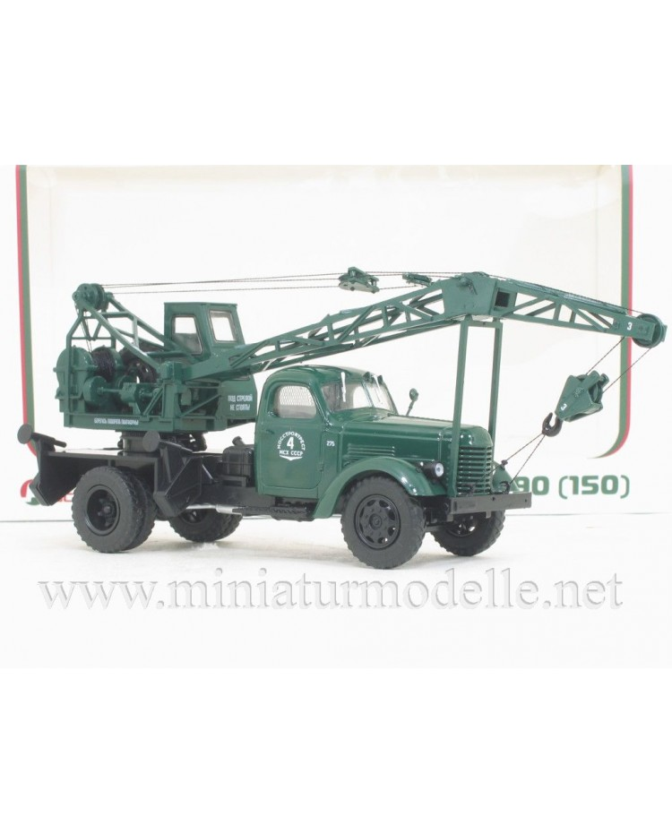1:43 ZIS 150 Mobile crane LAZ-690, military