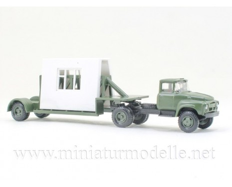 1:120 TT ZIL 130 with trailer and building elements, military