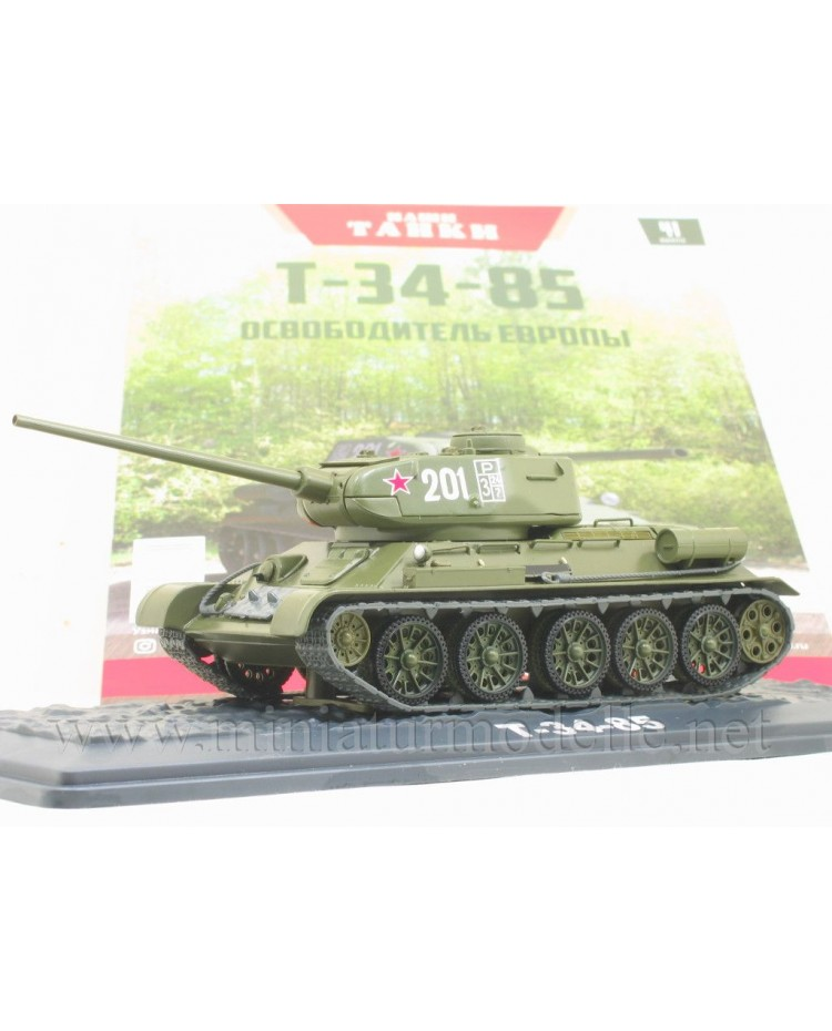 1:43 T 34-85 medium tank with magazine #41