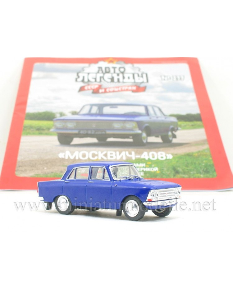 1:43 Moskvitch 408 with four round headlights and magazine #277
