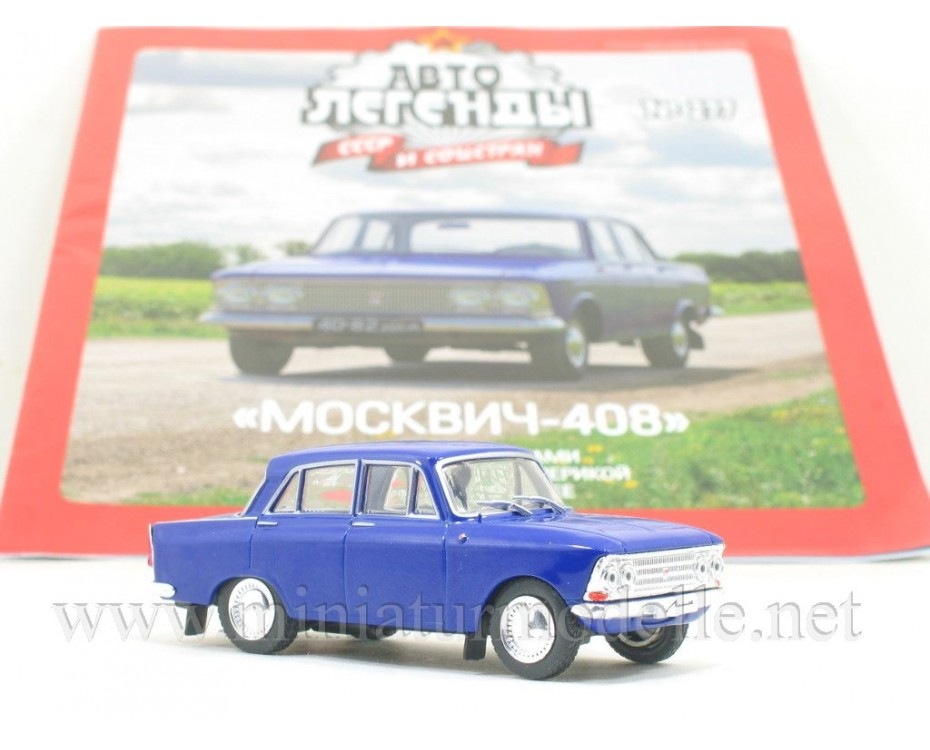 1:43 Moskvitch 408 with four round headlights and magazine #277,  De Agostini by www.miniaturmodelle.net