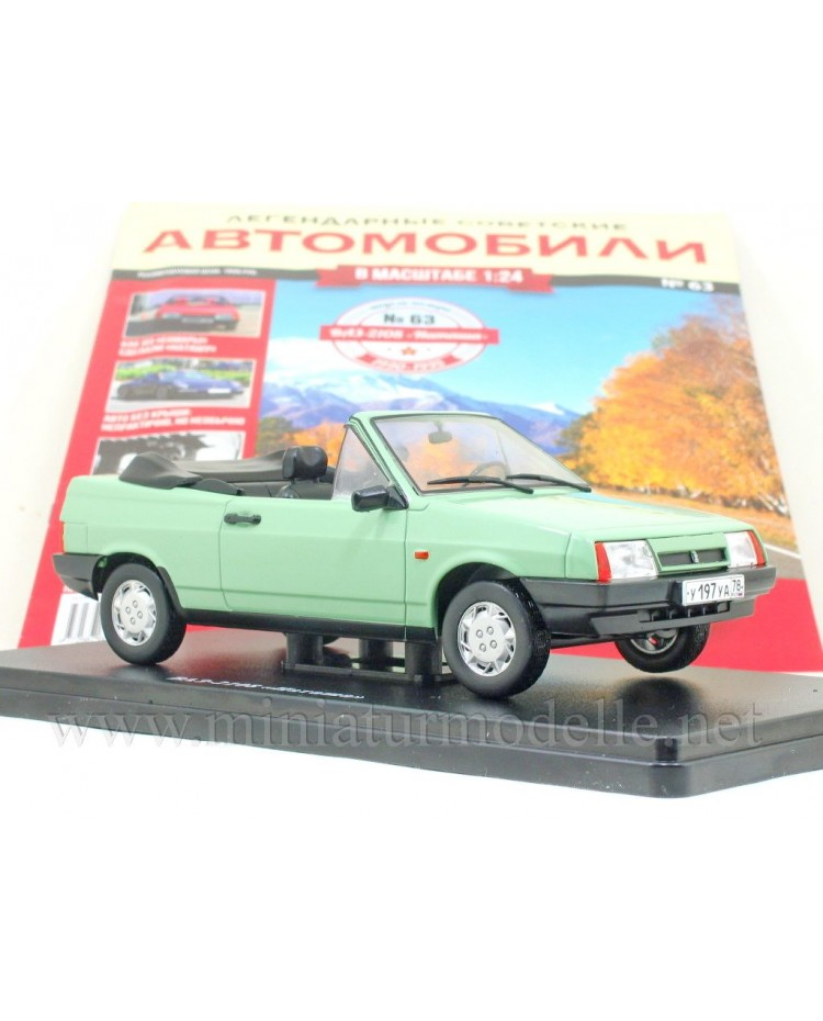 1:24 VAZ 2108 Natasha cabrio with magazine #63