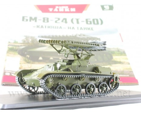 1:43 T 60 tank BM-8-24 Katyusha multiple rocket launcher with magazine #43