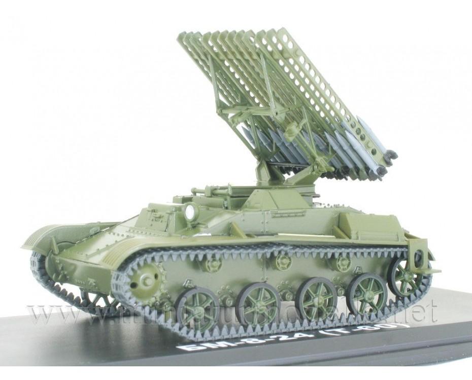 1:43 T 60 tank BM-8-24 Katyusha multiple rocket launcher with magazine #43,  Modimio Collections by www.miniaturmodelle.net