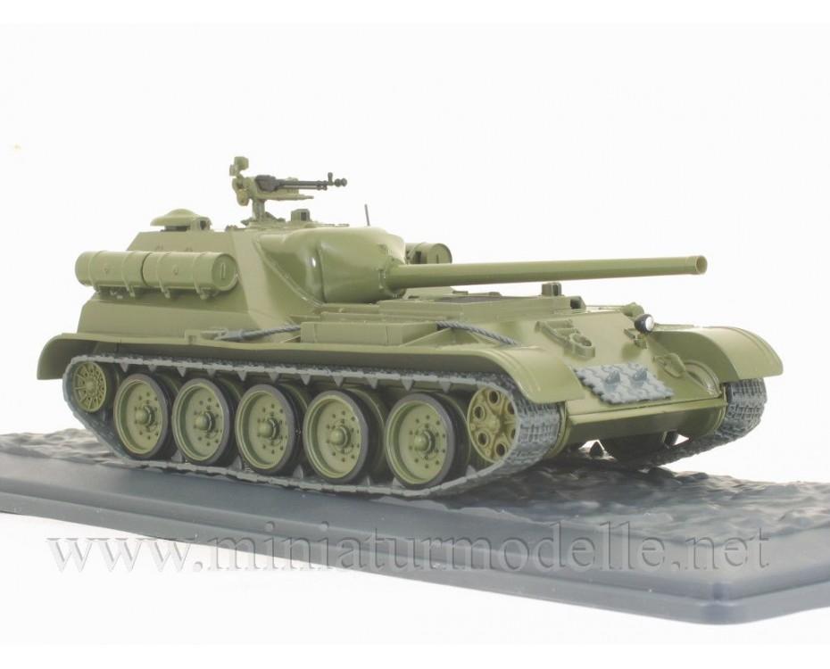 1:43 SU 101 Soviet tank destroyer with magazine #44,  Modimio Collections by www.miniaturmodelle.net