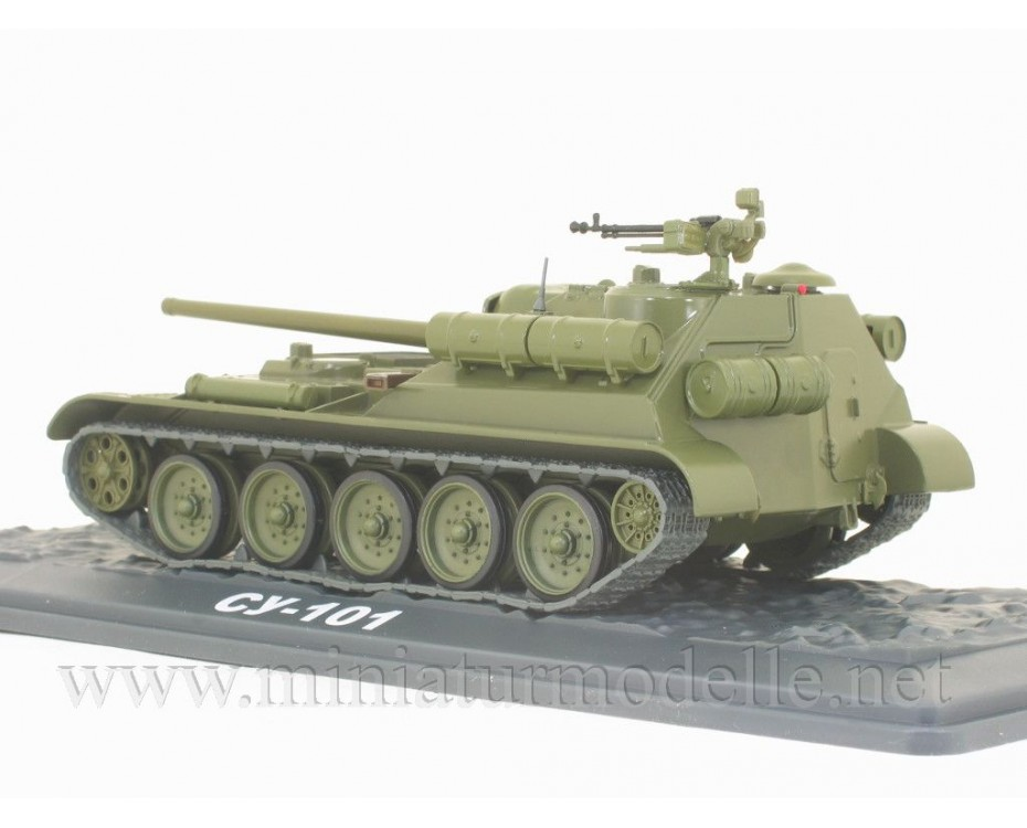 1:43 SU 101 Soviet tank destroyer with magazine #44,  Modimio Collections by www.miniaturmodelle.net