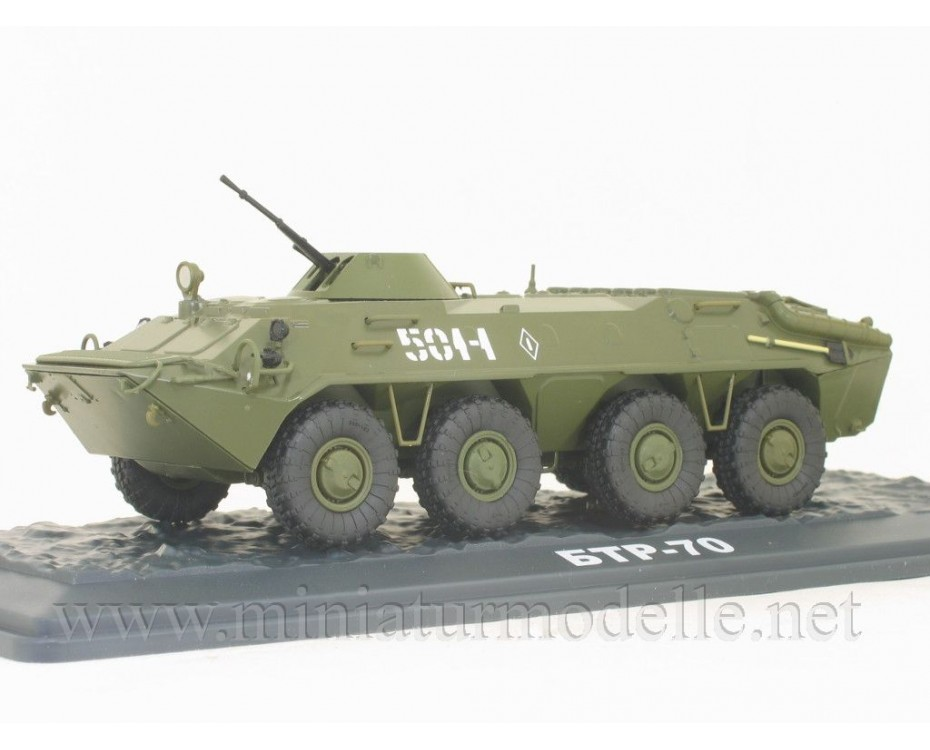 1:43 BTR 70 Soviet armored personnel carrier with magazine #46,  Modimio Collections by www.miniaturmodelle.net