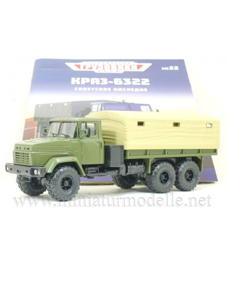 1:43 KRAZ 6322 truck with canwa top military with magazine #22