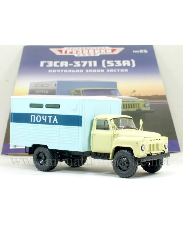 1:43 GAZ 53 A Post Box truck GZSA 3711 with magazine #25