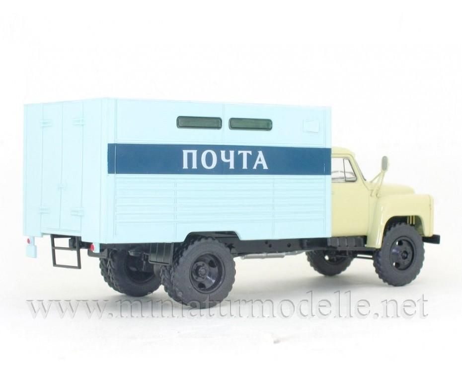 1:43 GAZ 53 A Post Box truck GZSA 3711 with magazine #25,  Modimio Collections by www.miniaturmodelle.net