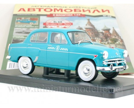 1:24 Moskvitch 407 Taxi with magazine #68