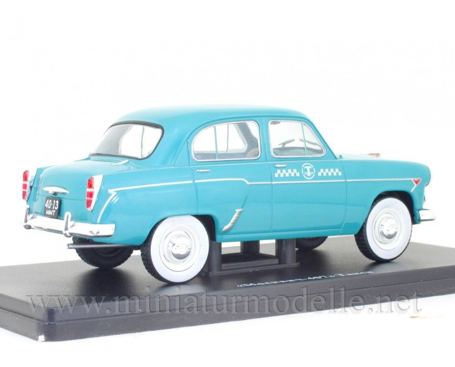 1:24 Moskvitch 407 Taxi with magazine #68,  Hachette by www.miniaturmodelle.net