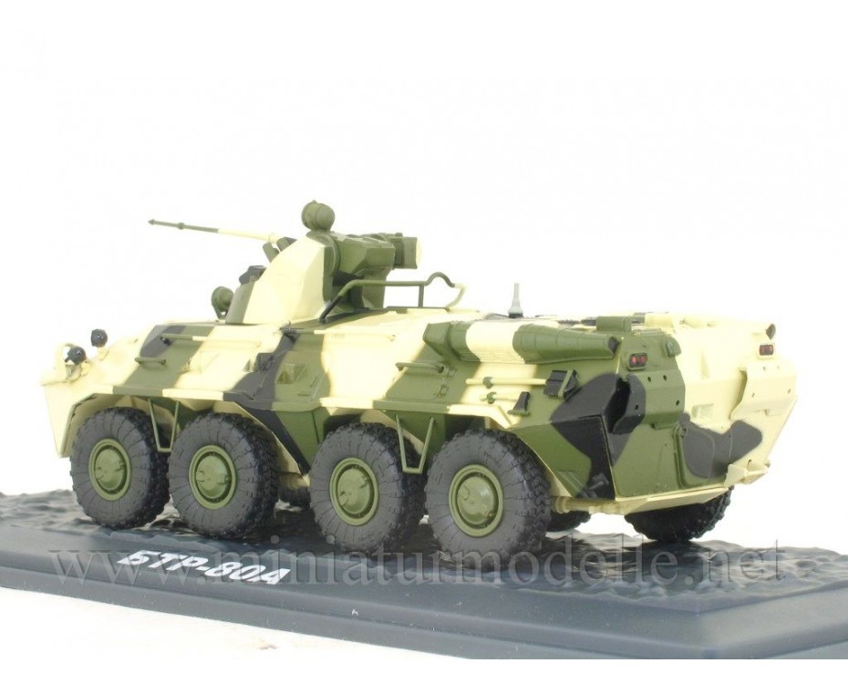 1:43 BTR 80 A Russian amphibious armoured personnel carrier with magazine #48,  Modimio Collections by www.miniaturmodelle.net
