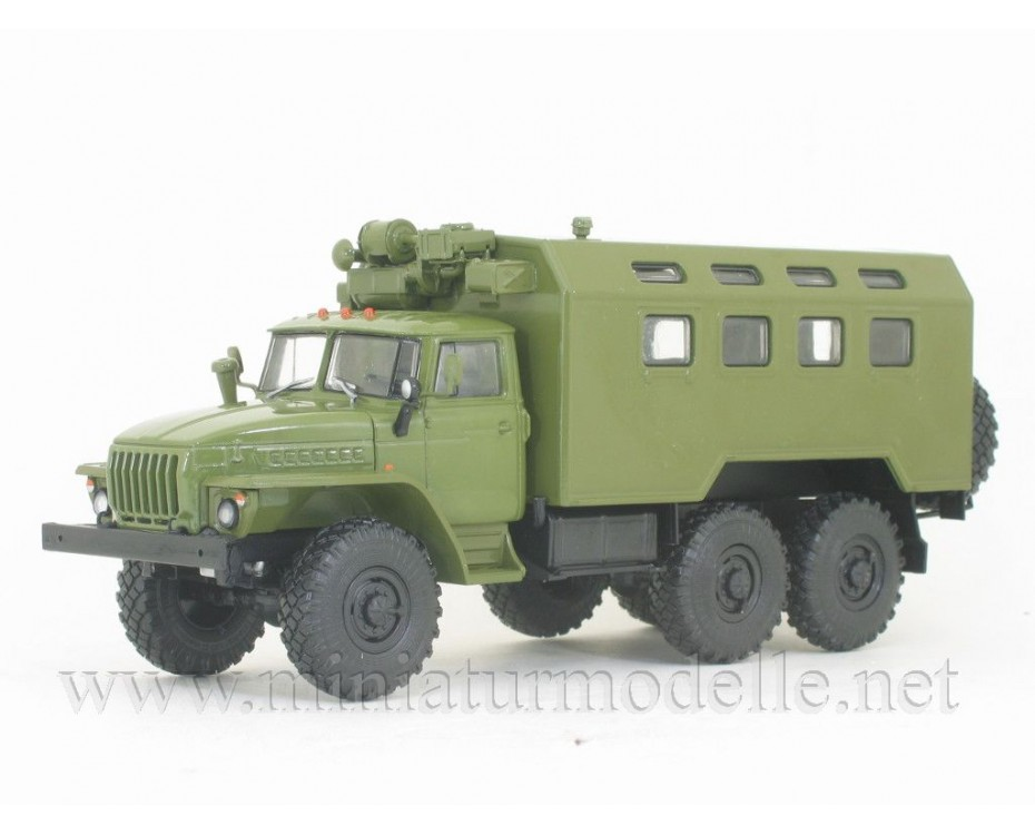 1:43 URAL 4320 box K4320 military with magazine #27,  Modimio Collections by www.miniaturmodelle.net