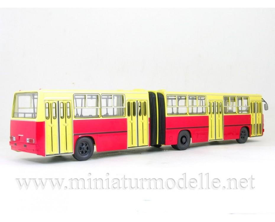 1:43 IKARUS 280 Bus yellow - red, 900230, Soviet Bus - SOVA by www.miniaturmodelle.net