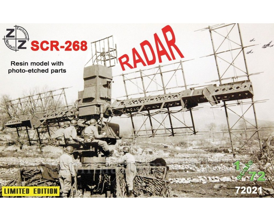 1:72 SCR 268 Radar, small batches kit, 72021, Z&Z Exclusive Modell by www.miniaturmodelle.net