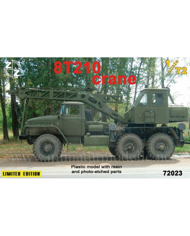 1:72 URAL 4320 Crane 8T210, small batches kit