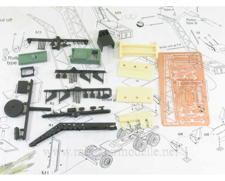 H0 1:87 IFA G5 Crane Bleichert, small batches conversion kit, C87108, Z&Z Exclusive Modell by www.miniaturmodelle.net