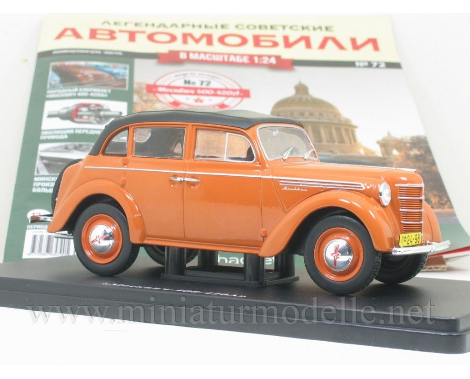 1:24 Moskvitch 400 - 420 A with magazine #72,  Hachette by www.miniaturmodelle.net