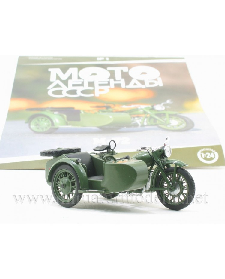 1:24 IMZ M 72 Motorcycle with sidecar and magazine #1