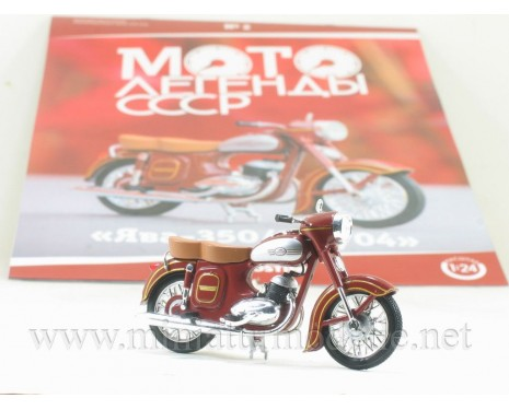1:24 Jawa 350 / 354-04 Motorcycle with magazine #2