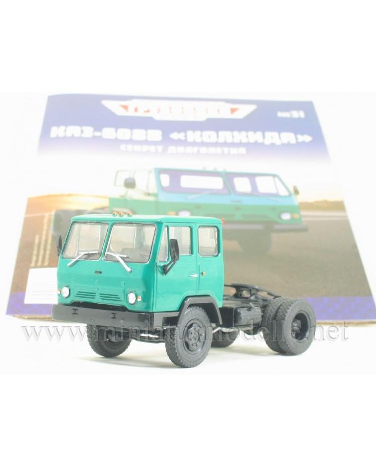 1:43 KAZ 608 V Kolhida tractor truck with magazine #31