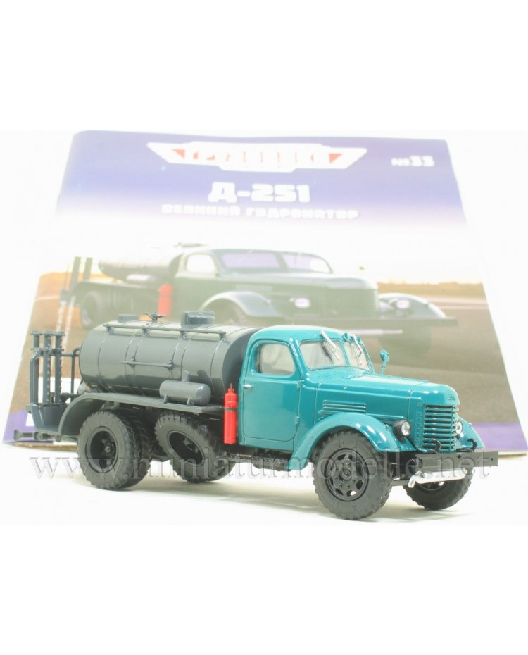 1:43 ZIS 150 asphalt distributor truck D 251 with magazine #33