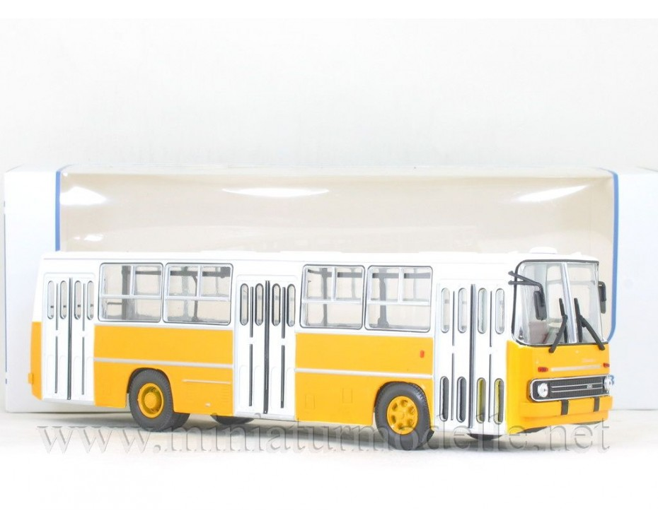 1:43 IKARUS 260 Bus yellow - white, 900193, Soviet Bus - SOVA by www.miniaturmodelle.net