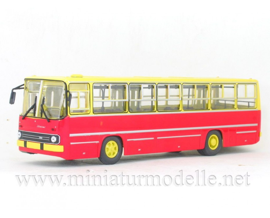 1:43 IKARUS 260 Bus yellow - red, 900179, Soviet Bus - SOVA by www.miniaturmodelle.net