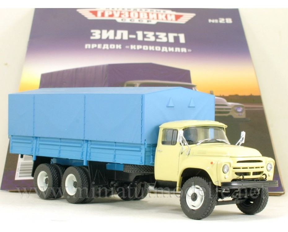 1:43 ZIL 133 G1 truck with canvas top with magazine #28,  Modimio Collections by www.miniaturmodelle.net