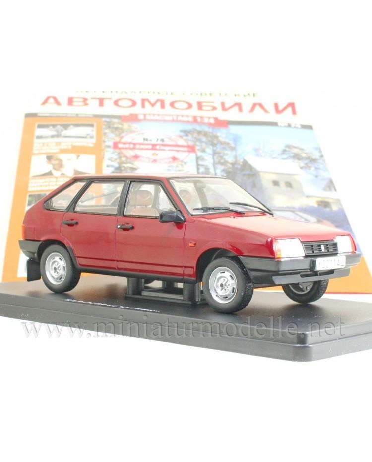 1:24 VAZ 2109 Samara with magazine #74