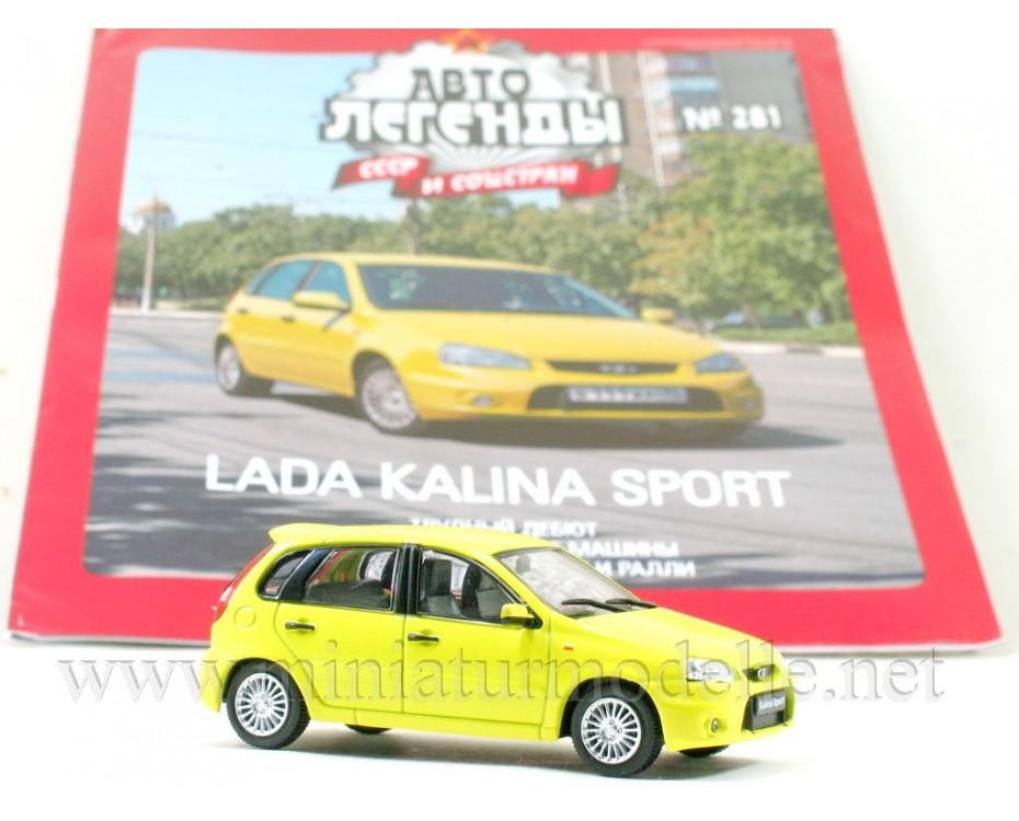 1:43 Lada Kalina Sport VAZ 1119 with magazine #281,  De Agostini by www.miniaturmodelle.net