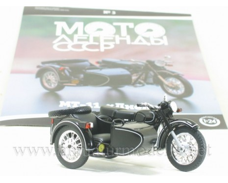 1:24 MT 11 Dnepr Motorcycle with sidecar and magazine #3