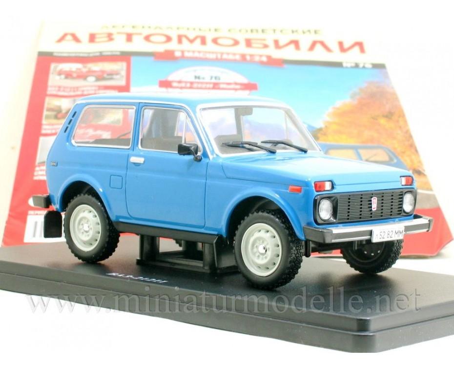 1:24 VAZ 21211 Niva with magazine #76,  Hachette by www.miniaturmodelle.net