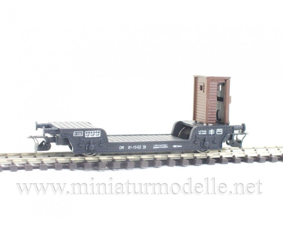 1:120 TT 3310 Low-loader wagon of the DR, type St., black, era 3, 3310, Peresvet by www.miniaturmodelle.net