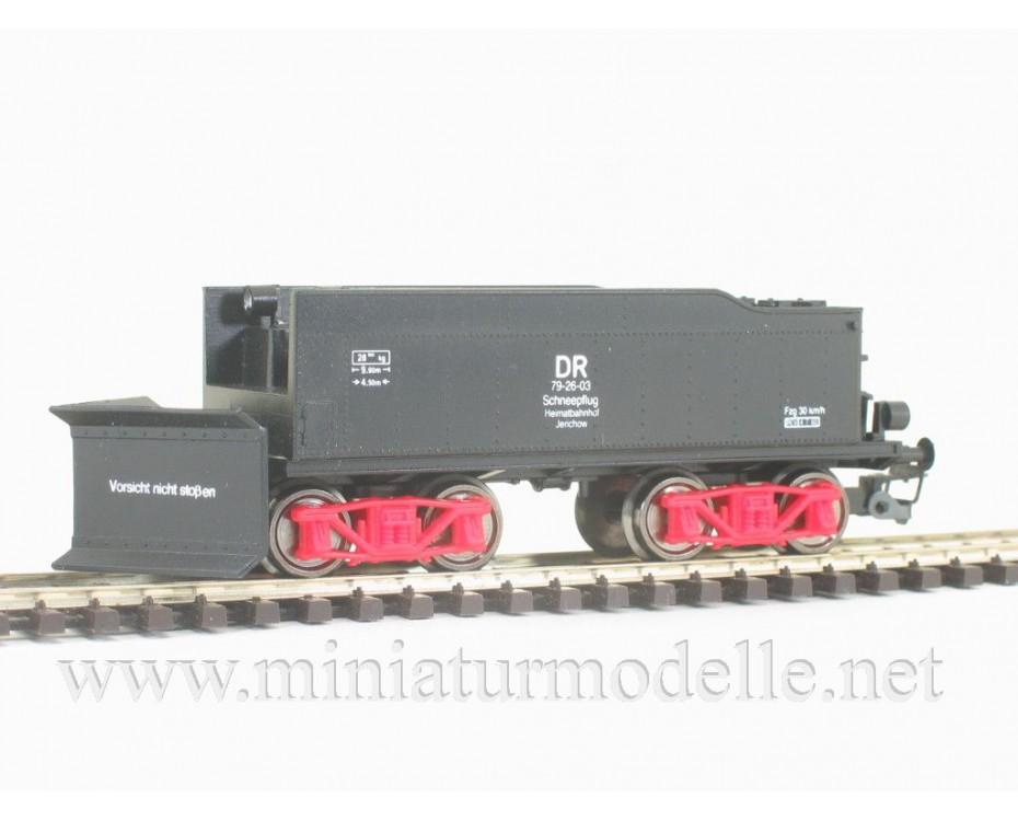 1:120 TT 4121 Snow plough based on steamer tender of the DR, era 3, 4121, Peresvet by www.miniaturmodelle.net