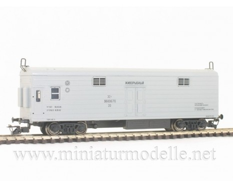 1:120 TT 3952 Refrigerator car for fishtransport of the RZD livery, grey, era 5
