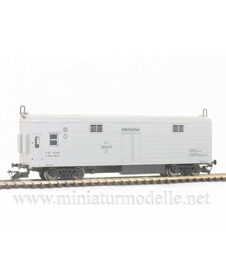 1:120 TT 3952 Refrigerator car for fishtransport of the RZD livery, grey, era 5