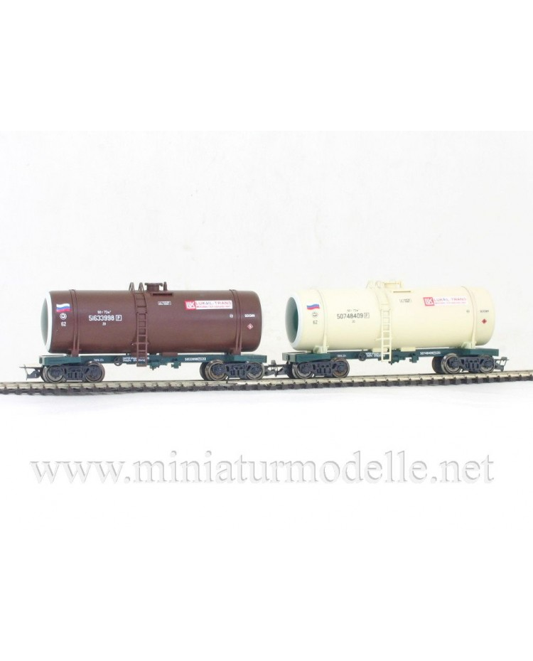 1:120 TT 3707 Lukoil - Trans tank wagon set for petrol transport of the RZD livery, era 5