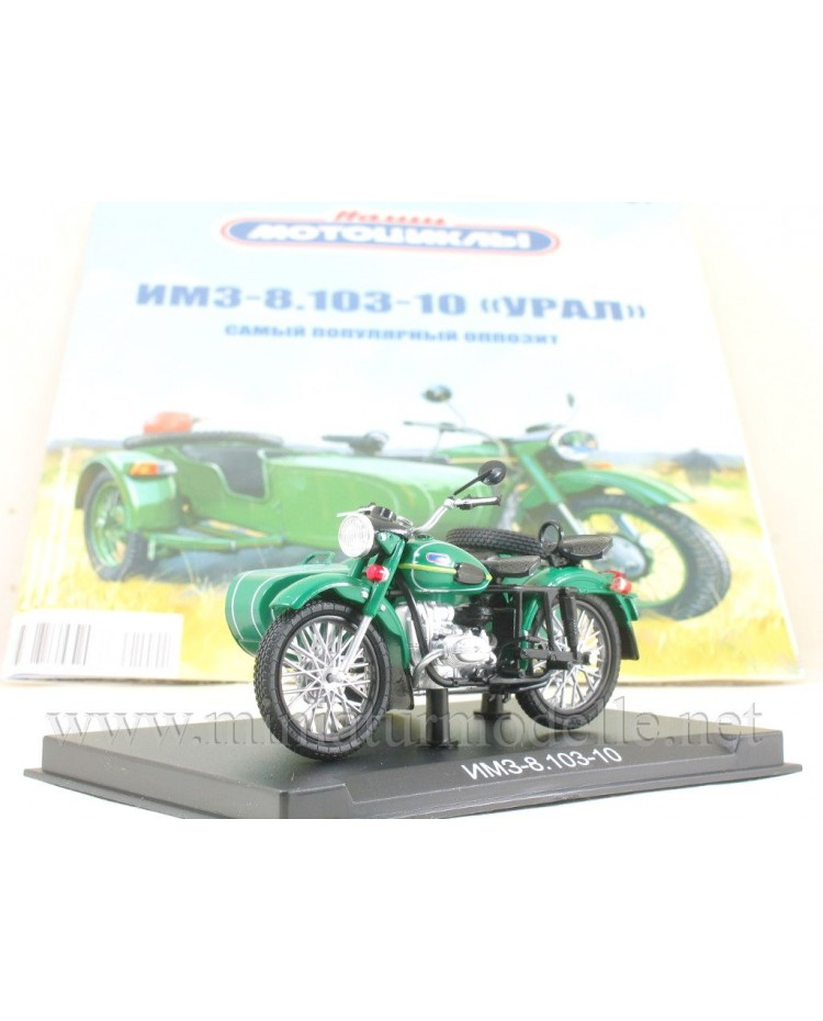 1:24 IMZ 8.103 10 Ural Motorcycle with sidecar and magazine #1