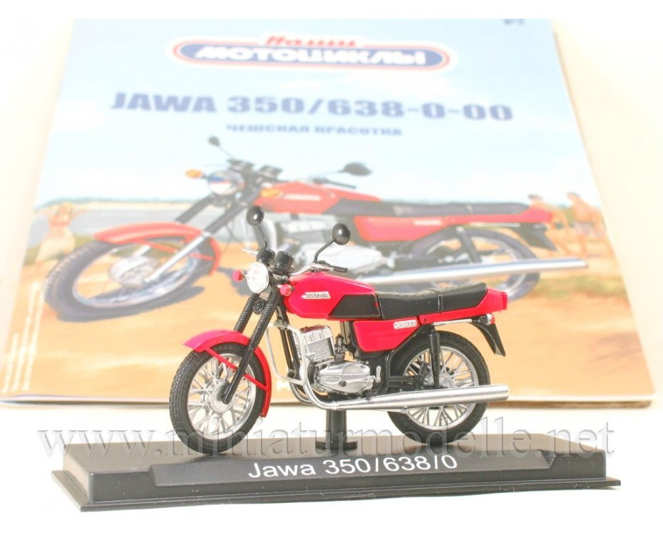 1:24 Jawa 350 / 638-0-00 Motorcycle with magazine #2,  Modimio Collections by www.miniaturmodelle.net