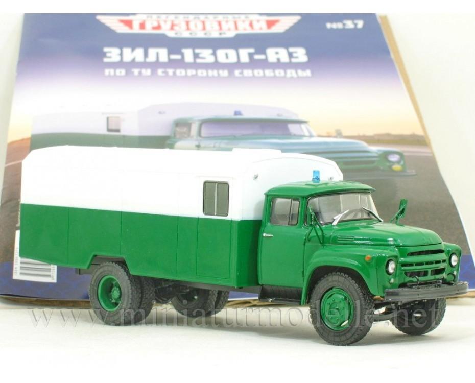 1:43 ZIL 130 G Police box AZ with magazine #37,  Modimio Collections by www.miniaturmodelle.net