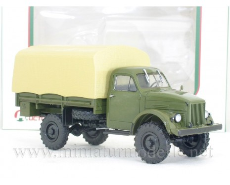 1:43 GAZ 63 load platform canvascover, military