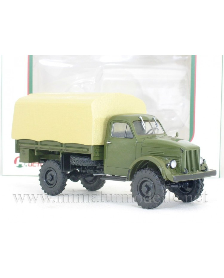 1:43 GAZ 63 load platform canvascover, military