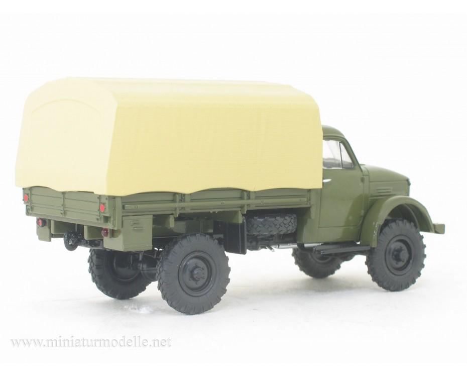 1:43 GAZ 63 load platform canvascover, military, 102637, Auto History - Aist by www.miniaturmodelle.net